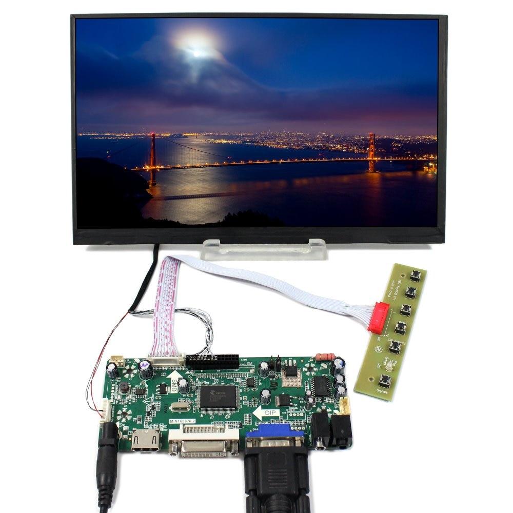 HDMI DVI VGA Audio LCD Controller Board+10.6 LTL106AL01 1366x768 IPS LCD Screen