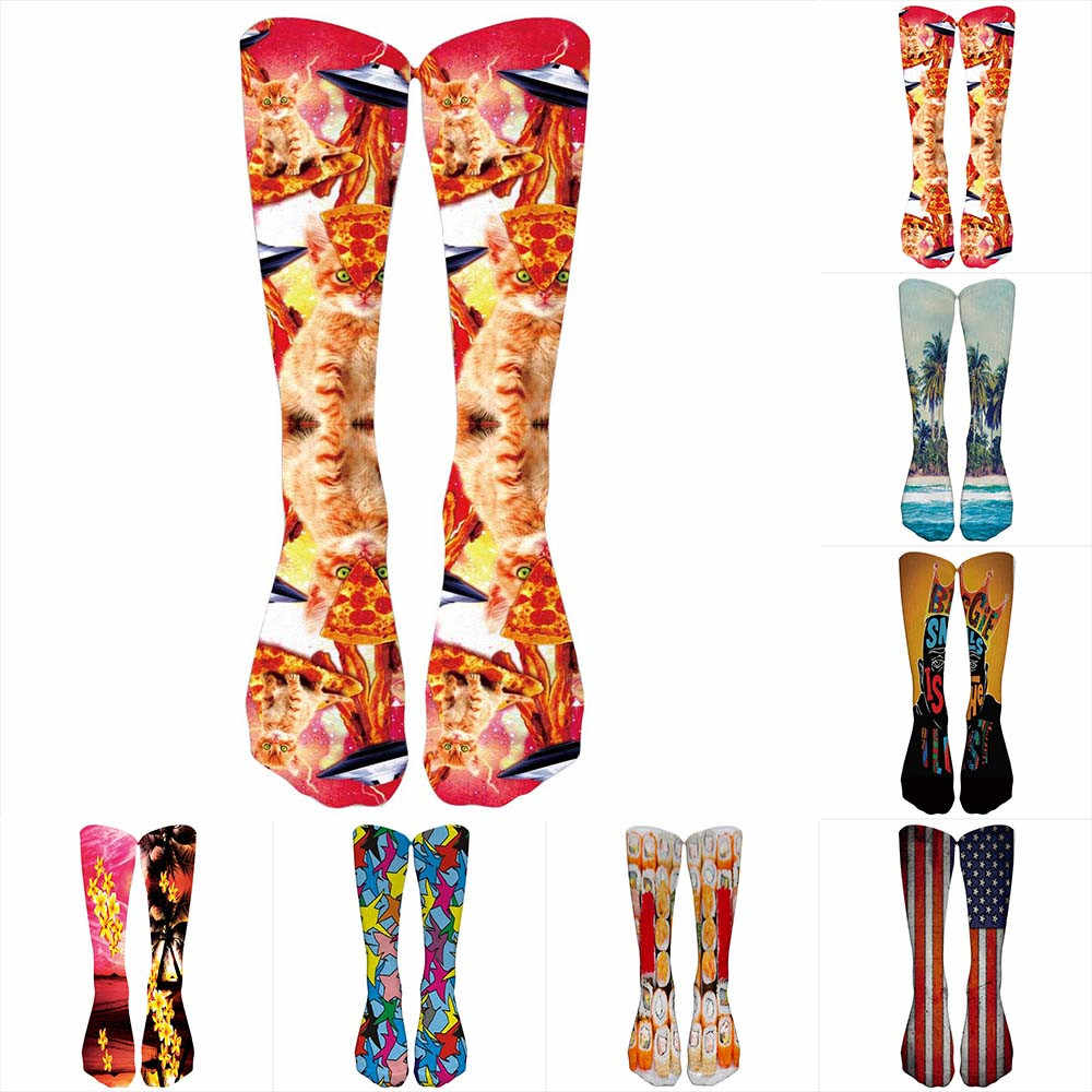 3391b7d8002 Detail Feedback Questions about 2018 New Design Colorful Thick Tie Dye  Compression Socks Soccer Socks High Socks Long Socks Character Funny Female  Ladies ...