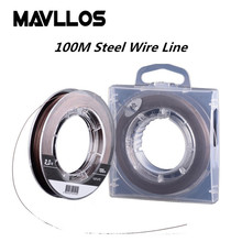 Mavllos Steel Cored Wire Inside 4 Strands Braided PE Fishing Line Super Strong Multifilament Fishing Line 10- 90lb