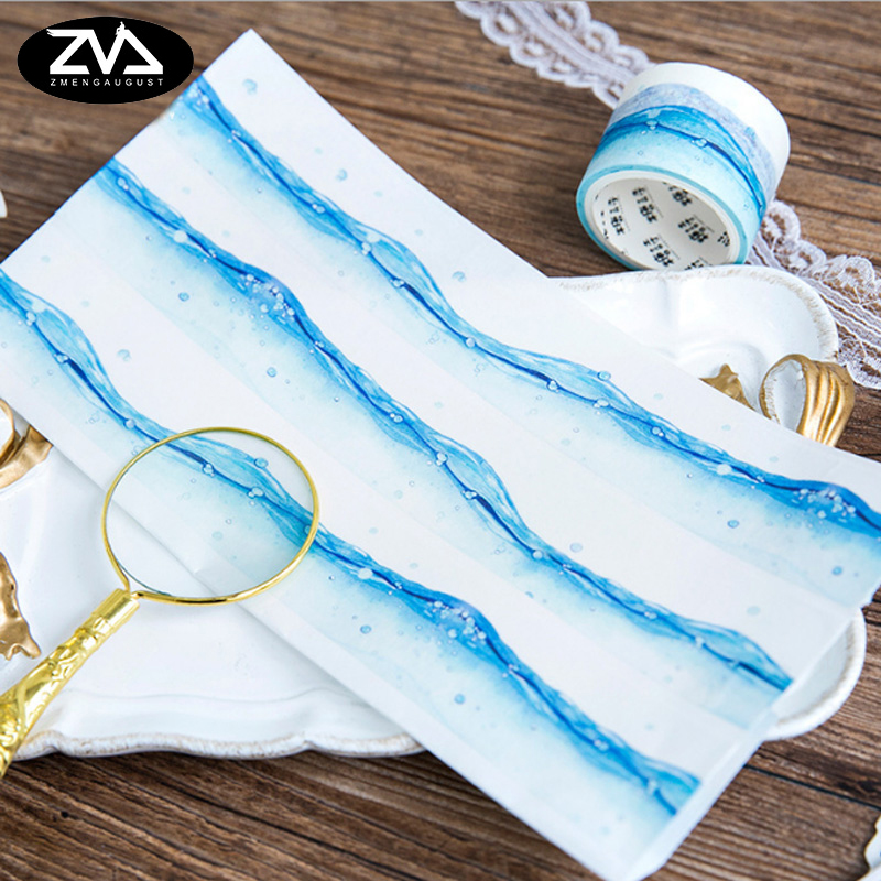 30mm*5m The taste of the sea washi tape DIY decoration tape scrapbooking planner masking tape office adhesive tape stationery flower bride new washi tape 4 3cmx5m office masking tape bullet journal decoration washitape cute stationary