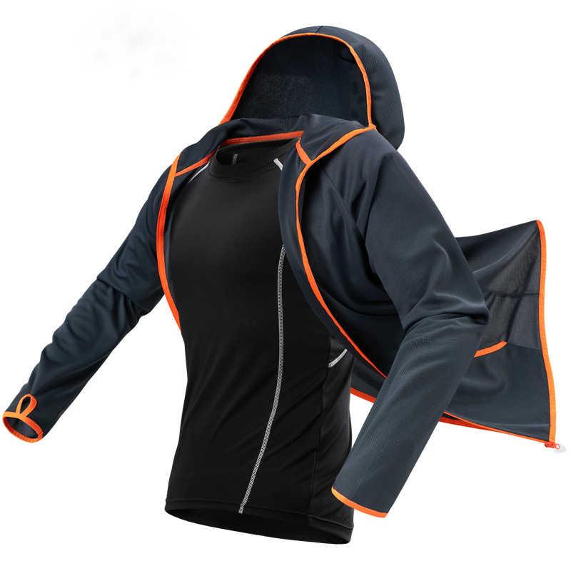 Hidrofobik Sutra Es Memancing Pria Pakaian Outdoor Camping Hiking Berkerudung Jaket Tahan Air Anti-Fouling Cepat-Pengeringan-Melindungi