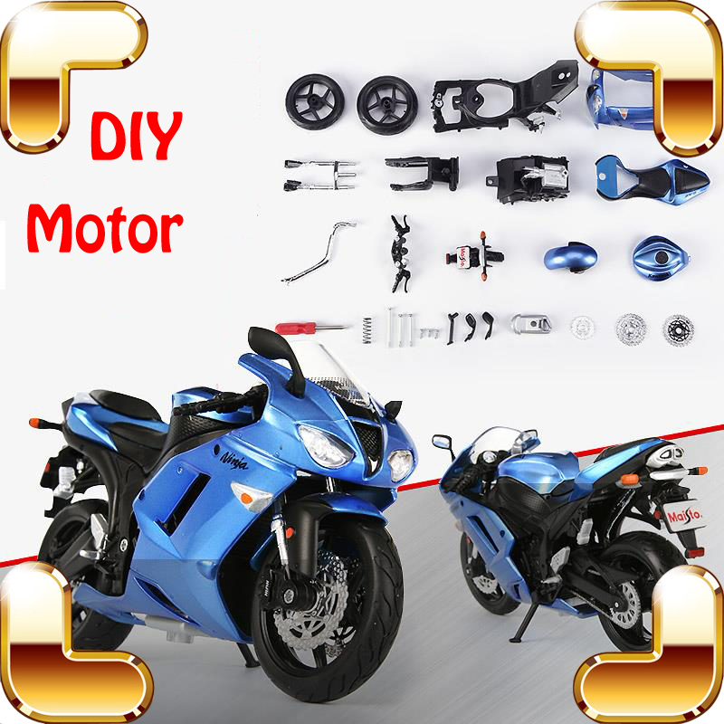 ФОТО New Idea Gift Motor Series 1/12 Model Motorcycle DIY Handmade Version Motorbike Collection Toys For Boys Assemble Game