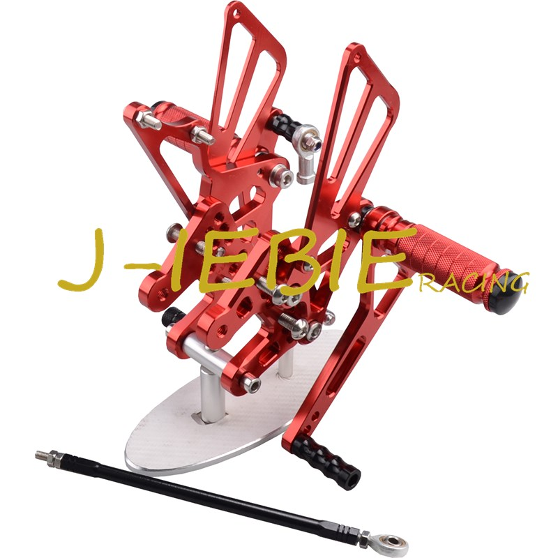 CNC Racing Rearset Adjustable Rear Sets Foot pegs Fit For Suzuki GSXR1000 GSXR 1000 2007 2008 K7 RED