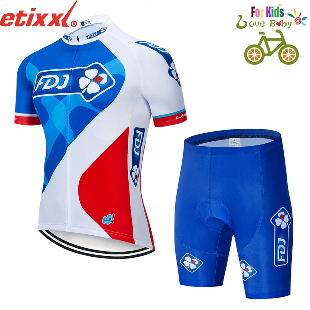 Honu fas 2019 Summer camouflage kid Cycling Jersey Short Set Sleeve Bicycle children Cycling MTB clothing Wear cycling clothes