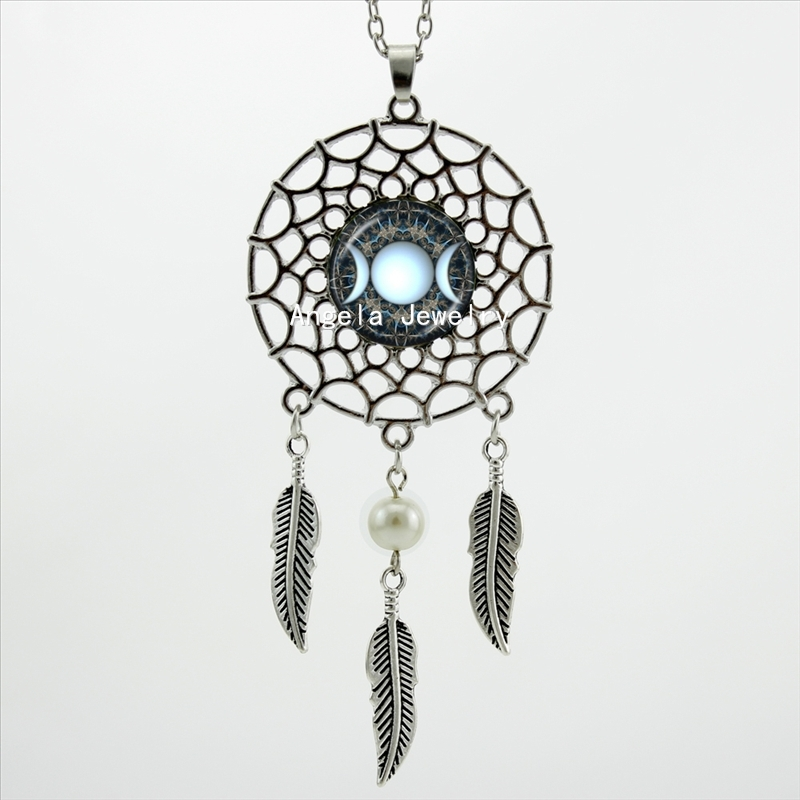 goddess enchant be shop fashion accessories pendants necklace crystal pendant witch moon triple