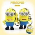 Fashion Cartoon Despicable Me 2 Minions ABS Toy LED Eye Mini Moive Star Figure Toys Lovely Minion Kids Doll 5cm