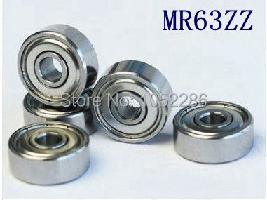 200pcs lot high quality MR63ZZ miniature ball bearing MR63 MR63 2Z shielded deep groove ball bearings