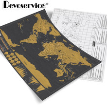 Creative Small Black Scratch Maps World Edition Black Gold Travel Scratch Map Fashion Decoration Map Gold Plated Office Supplies new world map book chinese english world travel maps including topographic map history culture finance resource