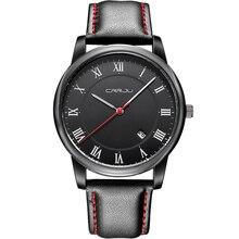 2016 Nueva Marca de Moda de Lujo de Los Hombres Relojes Correa de Cuero de Cuarzo Relojes Deportivos Hombres de Negocios Casual Relojes Relogio masculino