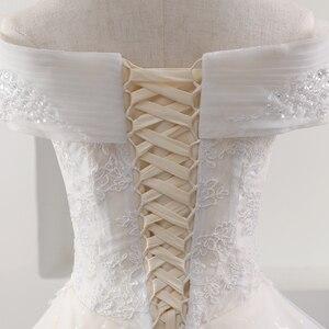 Image 5 - Fansmile yeni lüks Vintage kaliteli dantel düğün elbisesi 2020 balo prenses gelin gelinlikler Vestido De Noiva FSM 557F