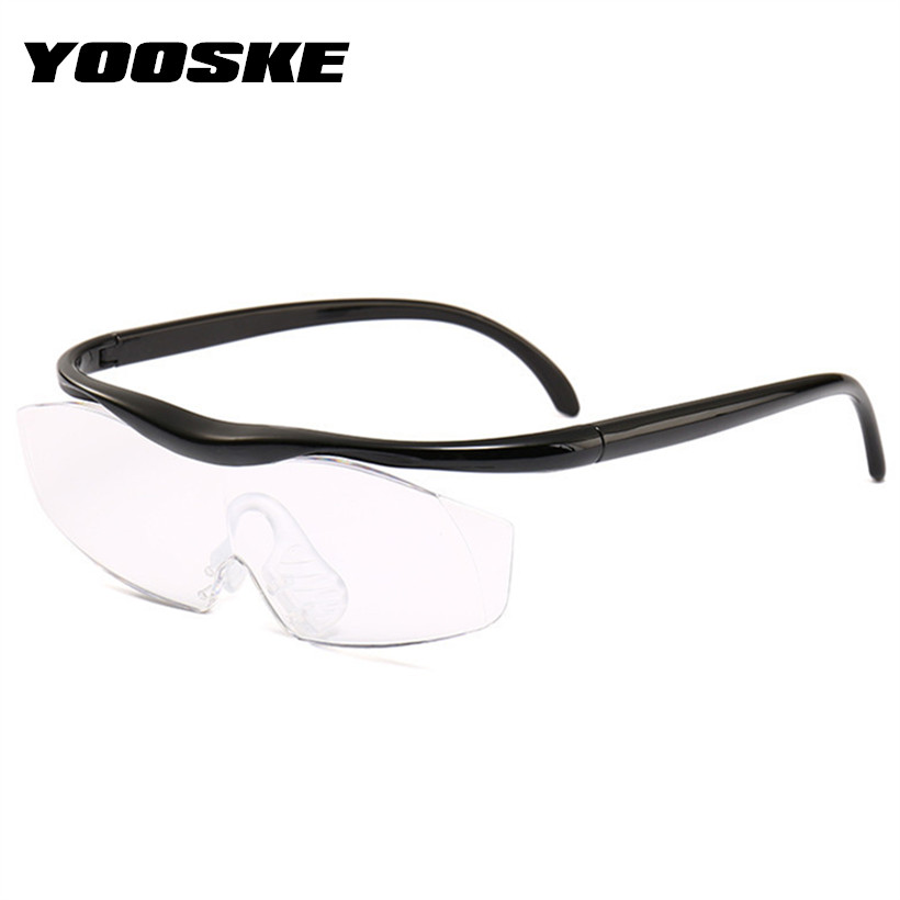 c89979231849 YOOSKE 1.8 Times Big Vision Magnifier Glasses Women Sewing Reading Glasses  Men Presbyopic Glasses Unisex Magnifying Eyewear 300