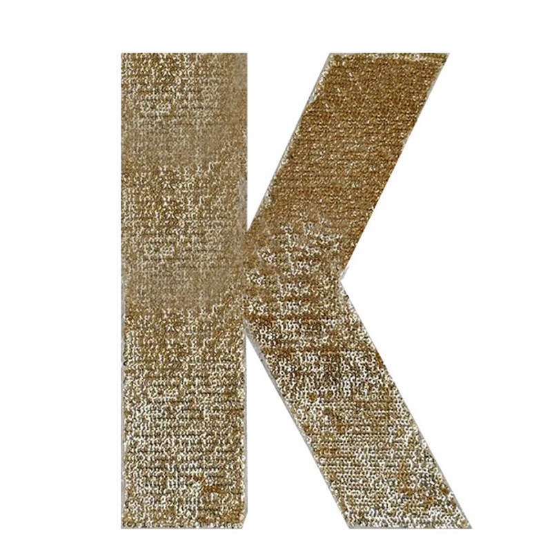 245mm golden k diy patch deal with it clothes iron on patches for clothing t shirt sequins stickers halloween christmas gifts