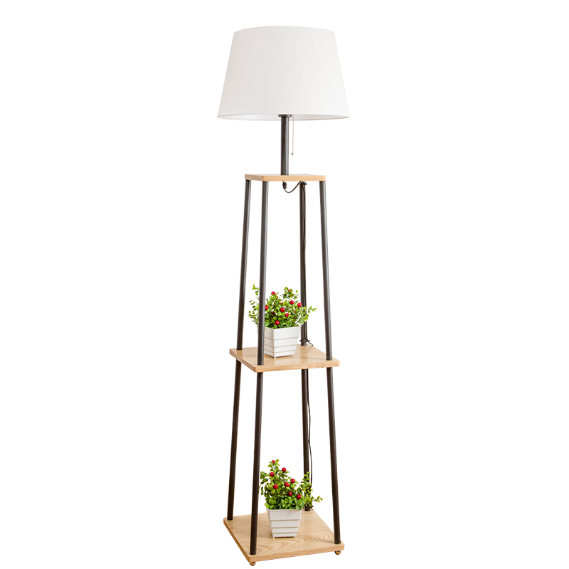 nordic floor lamp living room simple modern bedroom study solid wood led magnifying floor lamp