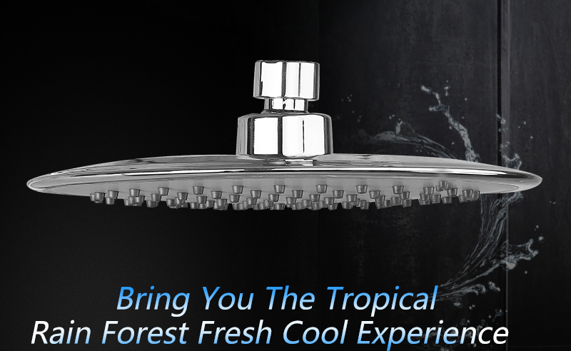 UFO Shower Head Showerhead Body Sprays Shower Head Round 8 Inch Ultra-Thin 2mm Bathroom Rain Shower Heads (3)