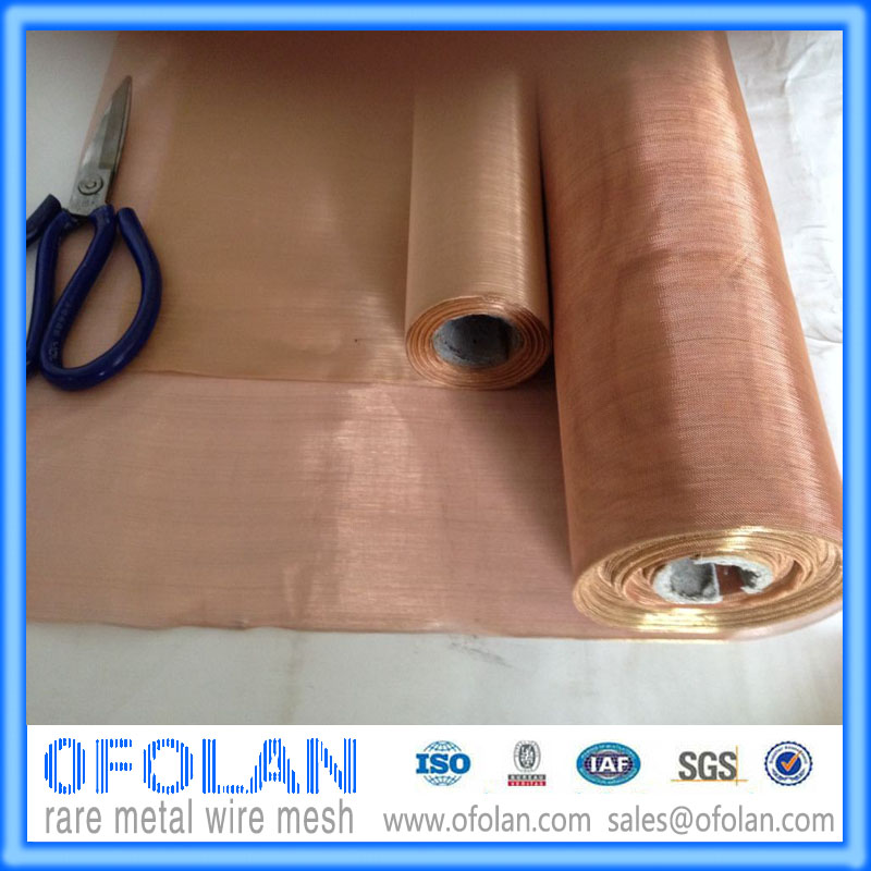 High-quality Electronic signal Shielding Red copper wire mesh (40 mesh) 500mmX1000mmX2PCS stock supplyHigh-quality Electronic signal Shielding Red copper wire mesh (40 mesh) 500mmX1000mmX2PCS stock supply