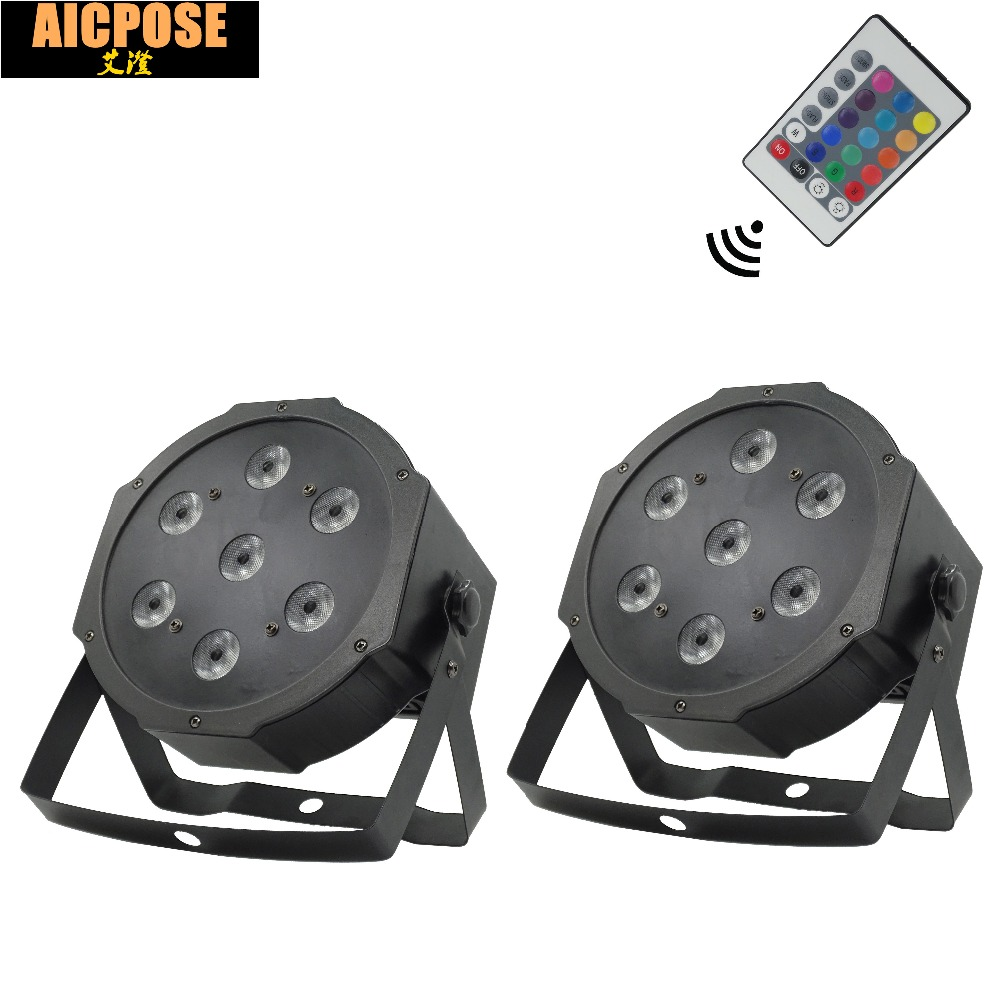 2pcs/lots 7*12w Remote  lights 7x12W led Par lights RGBW 4in1 flat par led dmx512 disco lights professional stage dj equipment2pcs/lots 7*12w Remote  lights 7x12W led Par lights RGBW 4in1 flat par led dmx512 disco lights professional stage dj equipment