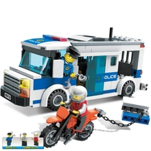 Building block model police educational toy 10424 compatible legoing brick rental city prison car 60047 bela 10424 urban city police police guard building block toys compatible with 60047