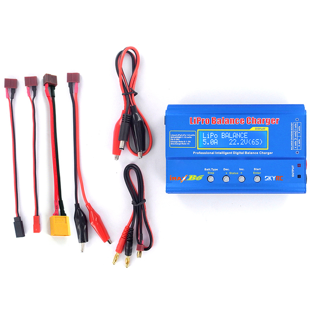 SKYRC IMax B6 2s-6s 7.4v-22.2v Lipo Battery ChargerNiMh Battery Balance Charger For RC Quadcopter NiMH/NiCd Rechargeable Battery