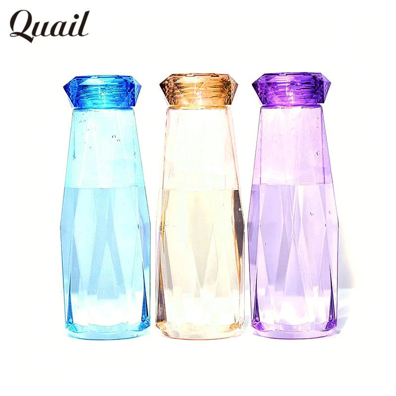 Quail Beauty Summer Water Bottle Diamond Bottle Plastic botella de agua Creative Water Bottle for Sport Drinking Free Shipping