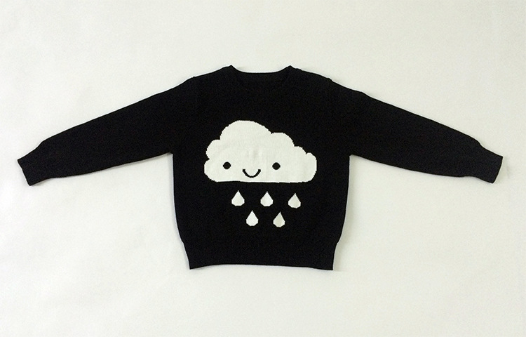 1bf974f68 Baby Girls Sweaters Autumn Winter 2017 New Girl Long Sleeve Knitted Clothes  Kids Clouds Rain Black Sweater For Girls 1 6Y-in Sweaters from Mother & Kids  on ...
