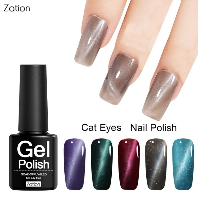 Zation Nail Art Gel Polish Magnetic Gel Nail Polish Base Coat Top ...
