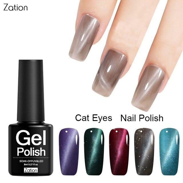 Zation Nail Art Gel Polish Magnetische Gel Nagellak Base Coat Top