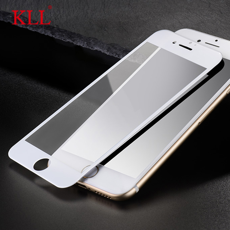 3D Edge Full Cowl Carbon Fiber Tender Edge Tempered Glass For Iphone 6 6S 7 Plus Display Protector Movie Protecting Glass Cowl