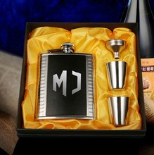 Free ShippingKoro svedang stainless steel hip flask querysystem 6 portable 4 gift box set male outdoor bar