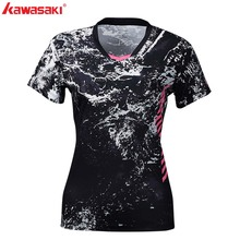 2019 KAWASAKI  Women Polyester Collar Shirt Short Sleeve Badminton Table Tennis Running Sports Shirts For Gym ST-S2104