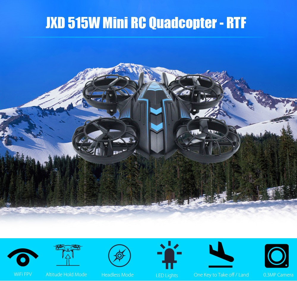 Mini RC Drone Dron WiFi FPV 0.3MP Camera Radio Control Drones 2.4GHz 4CH 6-axis Gyro Altitude Hold RTF Fly Helicopter with light