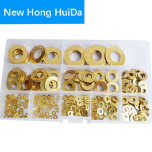Brass Flat Round Head washer Metric Copper Gasket Metal Standard Hardware Assortment Kit Set m2 m2.5 m3 m4 m5 m6 m8 m10 m12 m14