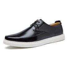 2016 Branded Design Men's Casual Leather Oxfords Classic Lace Up Dress/Formal enterprise footwear for males escarpins homme YDS105