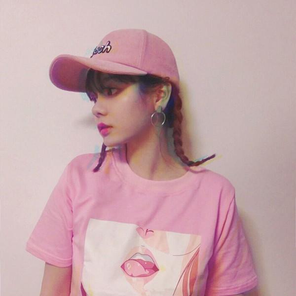 HTB1RJamLXXXXXb8XpXXq6xXFXXX9 - 2017 Lip Sexy TShirt Kawai Korea Harajuku Printed Women Pink