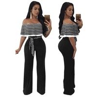 Fashion Women tube Ruffles Jumpsuits Sexy Playsuits plus size Bodysuits Rompers