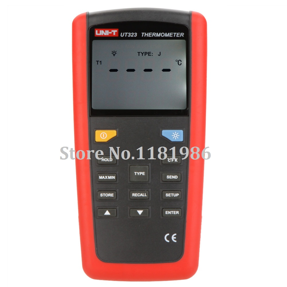 UNI-T UT323 2015 Digital Thermometer Temperature Meter Sensor Tester with High/Lower Alarm & Auto Calibration Thermostat  цены