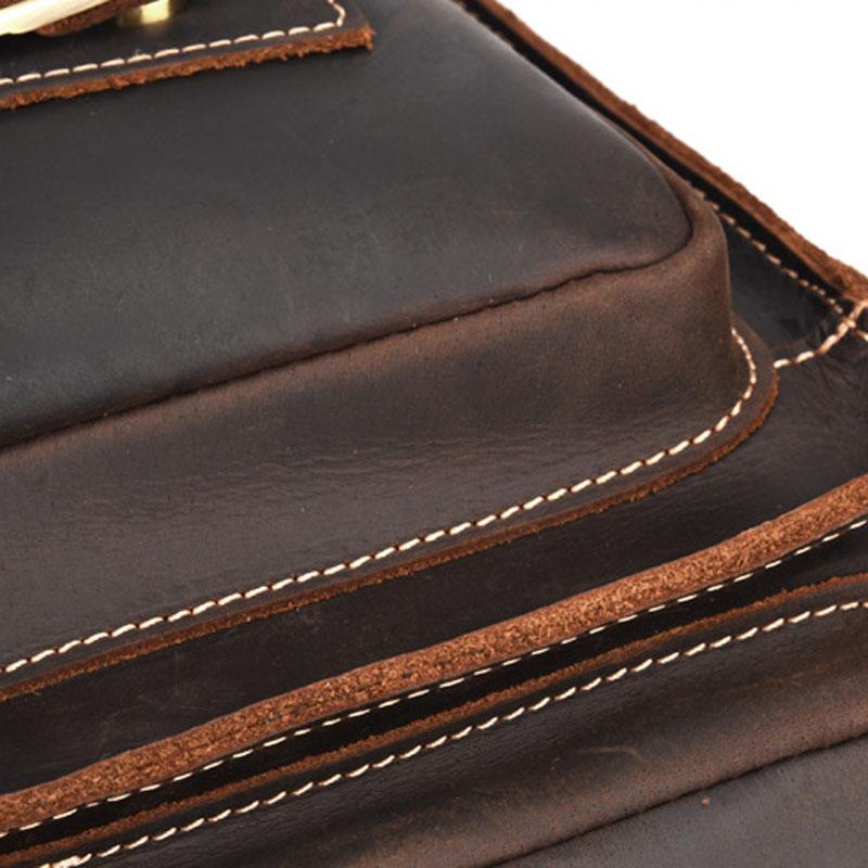 AETOO nouvelle mallette pour homme en cuir de cheval fou pochette d'ordinateur rétro sac bandoulière de cheval fou-in Bandoulière Sacs from Baggages et sacs    3