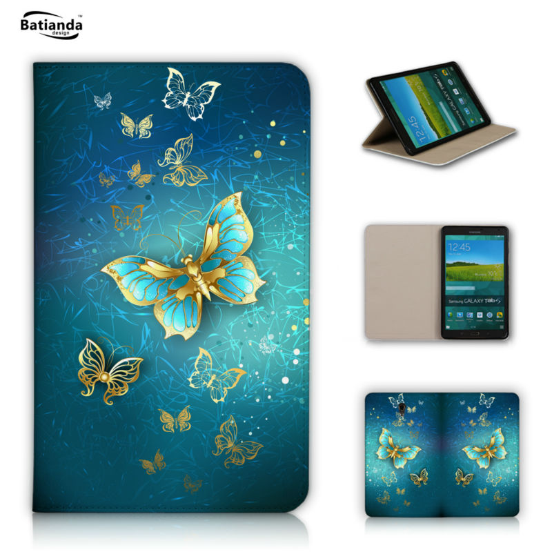 Magic Butterfly Pattern Print PU Leather Protective Cases Sleeve For Samsung Galaxy Tab S 8.4 T700 T701 Tablet Case Cover