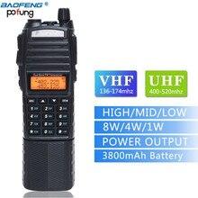 Baofeng UV-82 плюс двухканальные рации 8 Вт Мощный 3800 мАч батарея с DC разъем Dual Band 10 км Long Range любительский Любительское радио, Си-Би радиосвязь