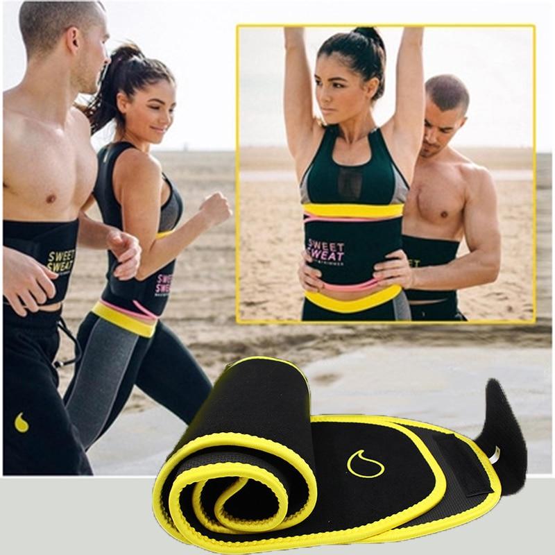 Women Adjustable Fitness Belt Sweat-absorbent Breathable Sports Sweat Belt Body Shaping Fat Burning Warm Girdle Orthopedic Waist