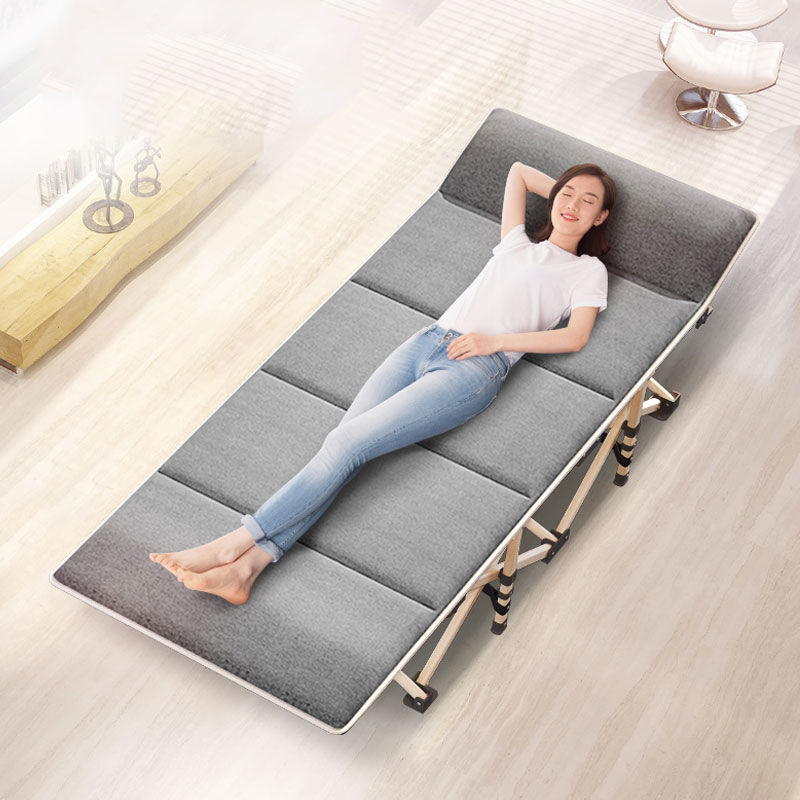 Living Room Furniture Chaise Lounge Sunny Folding Sheets People Lunch Break Lounge Chair Adult Office Simple Marching Home Portable Multifunctional Nap