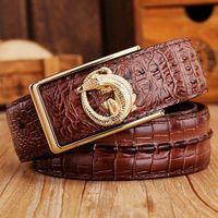 Desinger Belts Mens Belt Genuine Leather Crocodile Smooth Buckle Free Strap All Matched Jeans 2015 New