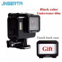 Replacement Underwater 60M Waterproof Housing Case With Touch Screen Back Cover For GoPro Hero 5