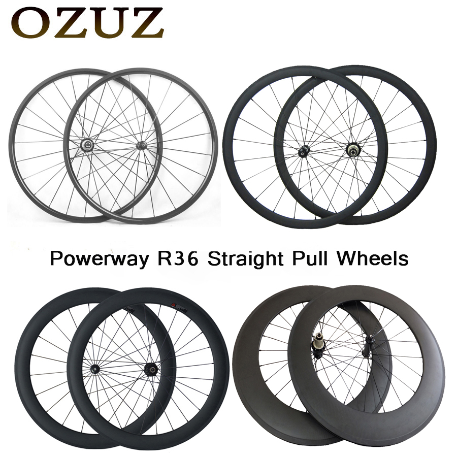 Straight pull 700C carbon wheels 24mm 38mm 50mm 88mm depth clincher tubular 23mm width road bike