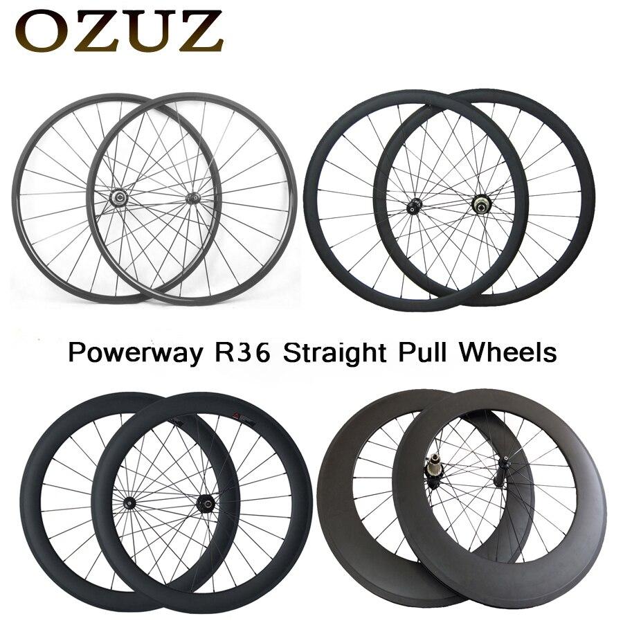 Droite pull 24mm 38mm 50mm 88mm 700C carbone roues enclume tubulaire 23mm largeur vélo de route roues 3 k vélo taxe incluse