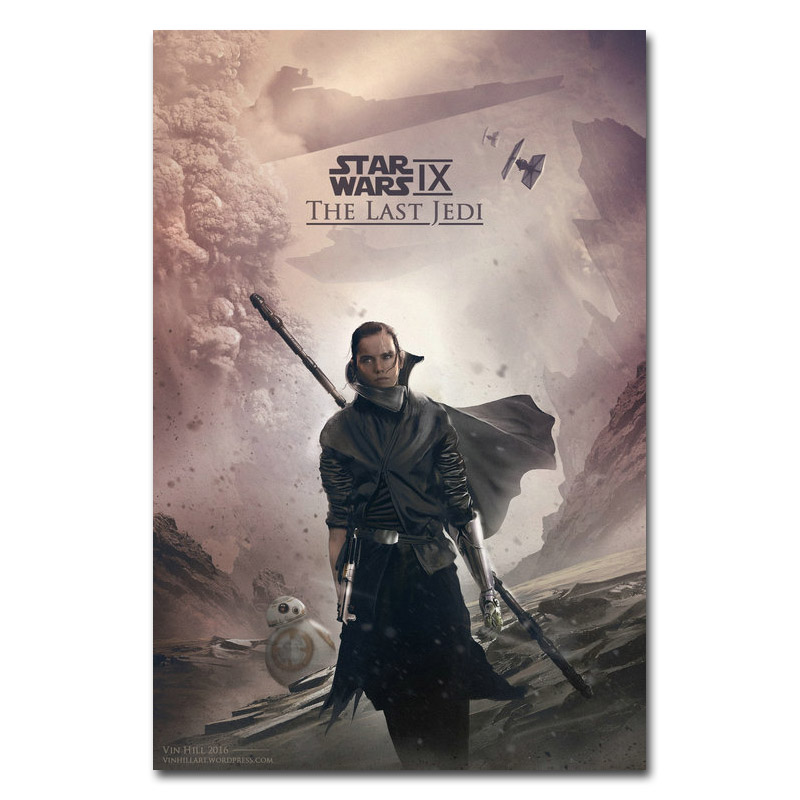 2017 Star Wars Episode Viii De Laatste Jedi Hot Film Art Silk Of Canvas Poster 13x20 24x36inches-(klik Zie Om Meer)-008
