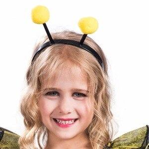Image 5 - Elaspooky robe abeille jaune, robe à ailes, Costume dhalloween pour petites filles Love Live Cosplay, robe fantaisie de fête de noël