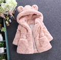 SuperQuality Winter Baby Girls Faux Fur Fleece Coat Party Pageant Warm Jacket Xmas Snowsuit 2-8Y Baby Outerwear Children Clothes