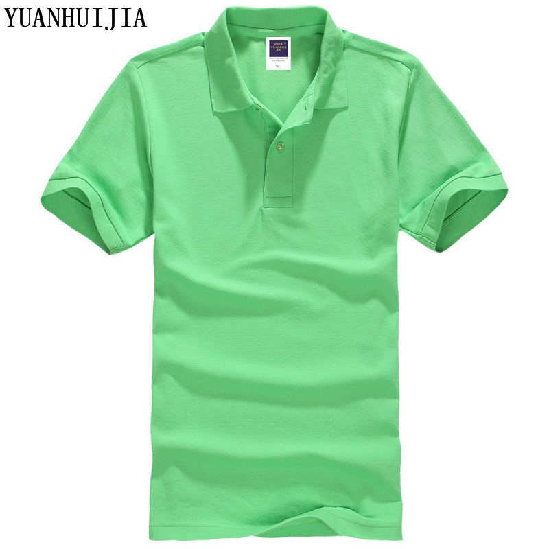 yuanhuijia all size casual polo shirt men solid polo shirt