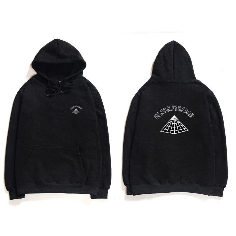 Rapper Swag Hooded Sweatshirt BLACK PYRAMID Hoodies Men Chris Brown Streetwear Hoodie Sweatshirt Letter Print Cotton Long Sleeve sweatshirt
