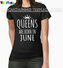 Teeplaza Casual T Shirt Novelty New Style Queen Are Born In June Shirt